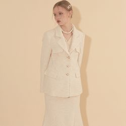 Classic Tweed Jacket Ivory