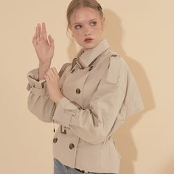 Short Trench Coat Ivory