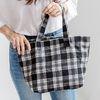 [ZIUM] W-08 체크숄더백 여성가방 핸드백 데일리백