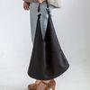 [ZIUM] W-10 루즈핏스웨이드 여성가방 핸드백 가죽가방