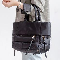 [ZIUM] W-12 그레이스 패딩 토트백 여성가방 핸드백 패딩가방
