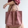 [ZIUM] W-18 프런트스웨이드 숄더백 여성가방 핸드백 패딩가방