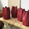 minimal cylinder shape bag - red