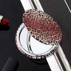 레오파드 양면 손거울