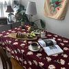 버건디로즈 식탁보 테이블보 170x140cm 테이블러너