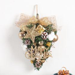 골드웨이브목화벽걸이 40cmP 크리스마스 장식 TRWGHM