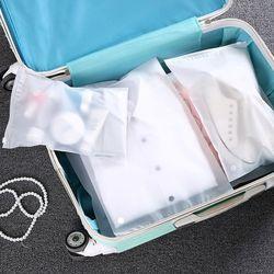 여행용 PVC반투명 수납 지퍼백 5종 세트