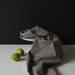 [Fabric] 실키에떼 하프린넨 얼그레이 그레이 Earl-Grey Gray