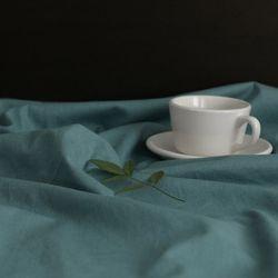 [Fabric] 실키에떼 하프린넨 스피어민트 블루 Spearmint Blue