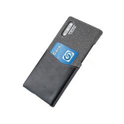 아이폰XS맥스 카드 포켓 레더 커버 하드 케이스 P295