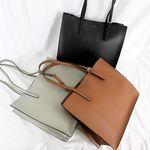 스퀘어 여성 가죽 쇼퍼백 3colors(AG2S9815DK)