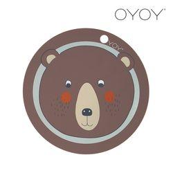 오이오이 원형 플레이스매트 곰