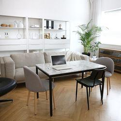 마르젤라 LPM 대리석 테이블 겸 식탁 1200 MG09