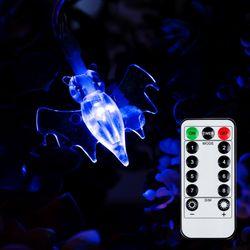 어반 LED 할로윈 장식 소품 조명 박쥐 가랜드 무드등 30P 방수형