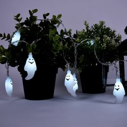 어반 LED 할로윈 장식 소품 조명 유령 가랜드 무드등 10P