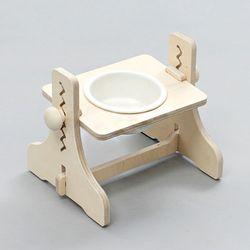 힐링타임 높이조절 원목식탁 - 1구 (도자기 - 화이트)