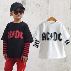 꿈꾸는아이 ACDC 레이어드 일체형 티셔츠 2컬러중 택1