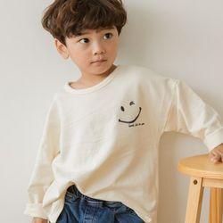 [꿈꾸는아이]스마일 자수 긴팔 티셔츠 맨투맨 2컬러중 택1아동복