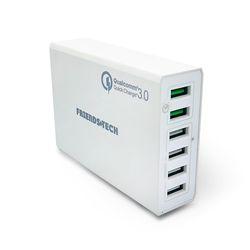 프렌즈테크 6포트 고속 멀티 충전기 퀵차지 3.0 ZX-6U01Q