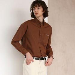 코튼 트윌 셔츠 19 BROWN