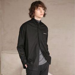 코튼 트윌 셔츠 40 BLACK