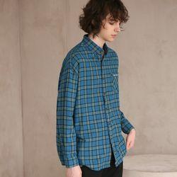 플란넬 체크 셔츠 F-B0503 4 BLUE GREEN