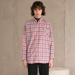 플란넬 체크 셔츠 1 PINK