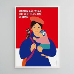 유니크 인테리어 디자인 포스터 M 엄마는 강하다 A3(중형)