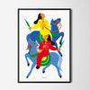 유니크 인테리어 디자인 포스터 M 푸른 말 A3(중형)
