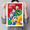 유니크 인테리어 디자인 포스터 M 자본주의 미소 A2(대형)