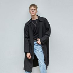 SINGLE OVERFIT MAC COAT BLACK