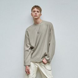 MILD OVER KNIT T-SHIRTS KHAKI