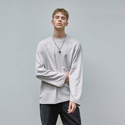 MILD OVER KNIT T-SHIRTS GRAY