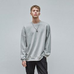 LOOSE-FIT CREWNECK SWEATSHIRT GRAY