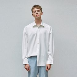 OVER-FIT SILKY SHIRTS IVORY