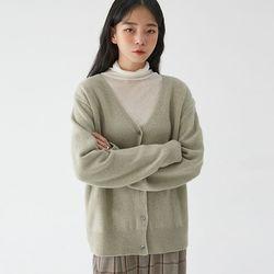 beau v-neck wool cardigan