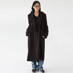 plain classic double long coat