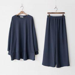 [Set] Flare Long Tee   Wide Pants