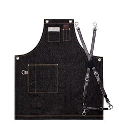 Denim Chest two pocket black S 실버이름판 [ARC1112]