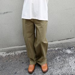 raw cotton wide pants (2colors)