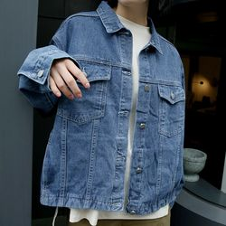 two pocket denim jacket (2colors)