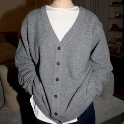 soft texture loose fit cardigan (3colors)