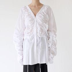 sensual drape maxi blouse (white)