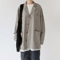 maxi cotton light jacket (khaki)