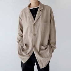 maxi cotton light jacket (beige)