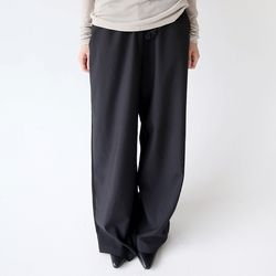 wide banding string pants (3colors)