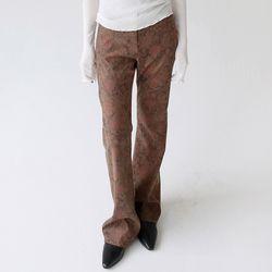 retro flower pattern slim pants (3colors)
