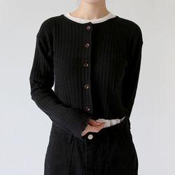 round shorts basic cardigan (5colors)