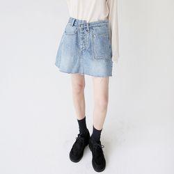 solid denim mini skirts