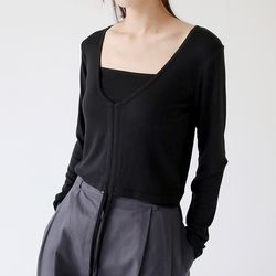 string sleeveless set top (3colors)